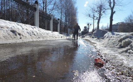 Уборка тротуаров: погода